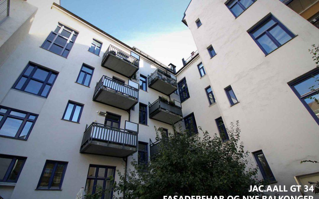 Jac.Aall gt 34  fasaderehab og nye balkonger
