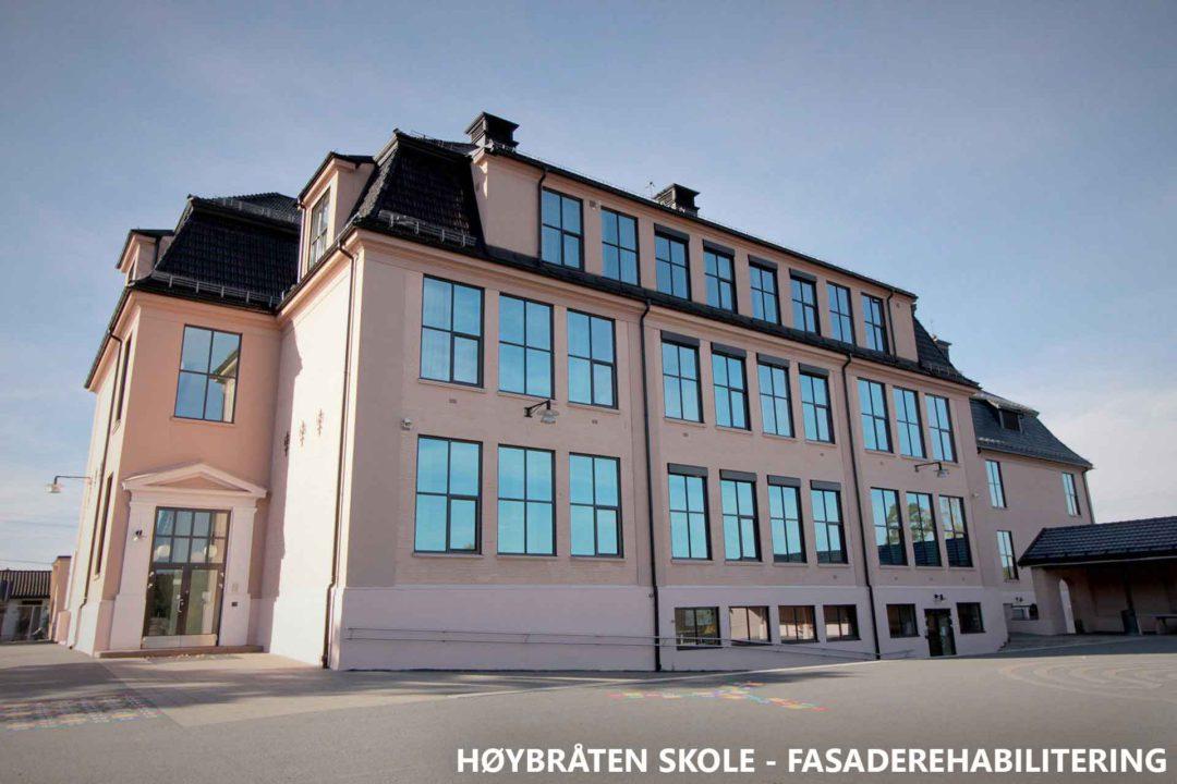 Høybråten skole fasaderehabilitering